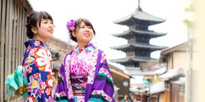 京花鈴 女性二人京都着物観光